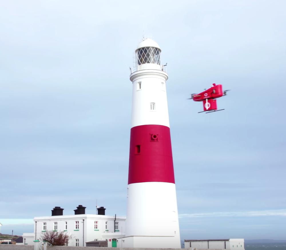 drone delivery vodafone